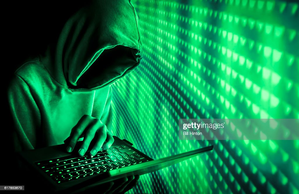 green code hacker : Stock Photo