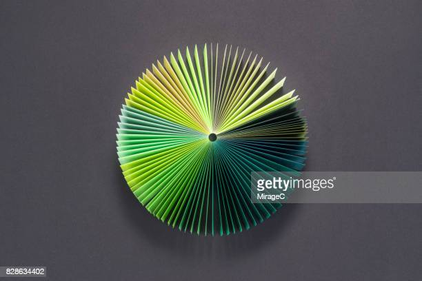 Green Colored Book Pages Pie Chart