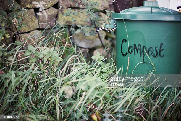 Green Compost Bin In Garden