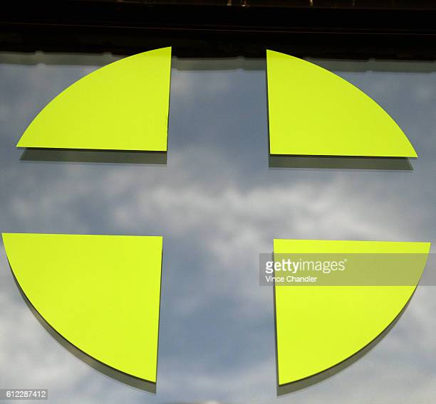 A green cross in the window of Peak a cannabis dispensary in Denver The green cross is used in European countries to note a pharmacy the medical...