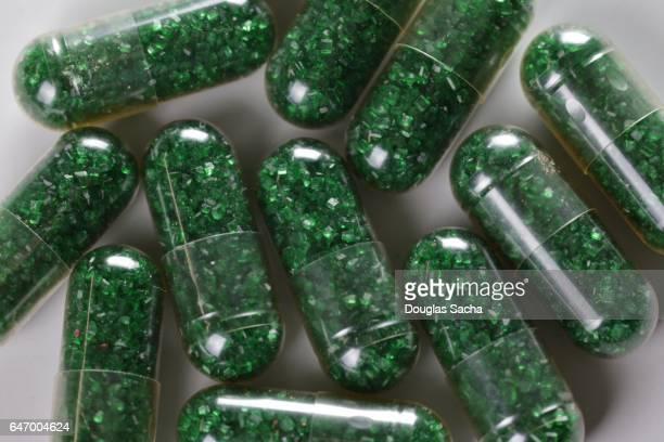Green crystal prescription pills