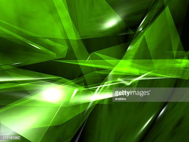 green crystal render ii - crystal stock pictures, royalty-free photos & images