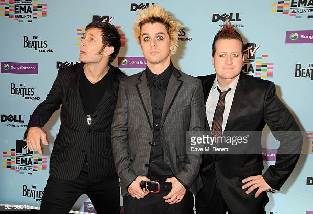 Green Day arrives for the 2009 MTV Europe Music Awards held at the O2 Arena on November 5 2009 in Berlin Germany