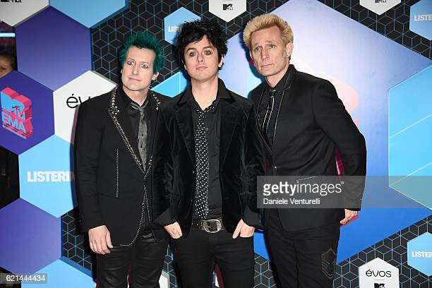 Green Day attend the MTV Europe Music Awards 2016 on November 6 2016 in Rotterdam Netherlands