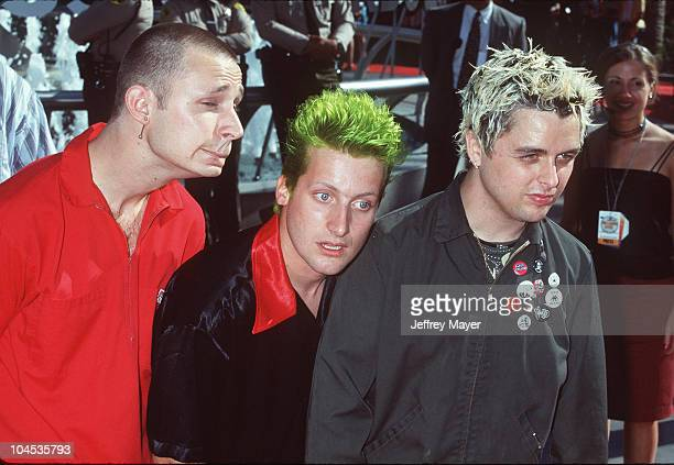 Green Day during 1998 MTV Video Music Awards at Universal Amphitheatre in Universal City California United States