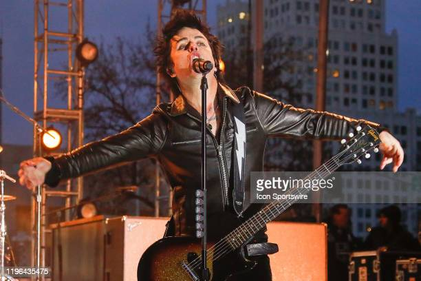 Green Day lead singer Billy Joe Armstrong performs prior to the 2020 NHL AllStar Game on January 25 at Enterprise Center in St Louis MO