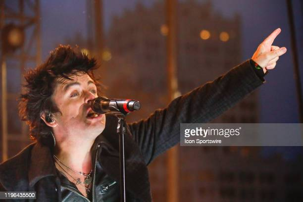 Green Day lead singer Billy Joe Armstrong sings in band performance prior to the 2020 NHL All-Star Game on January 25 at Enterprise Center in St....