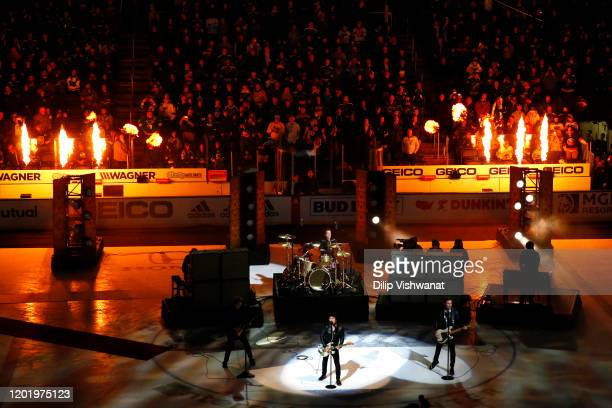 Green Day performs during the 2020 Honda NHL AllStar Game at Enterprise Center on January 25 2020 in St Louis Missouri