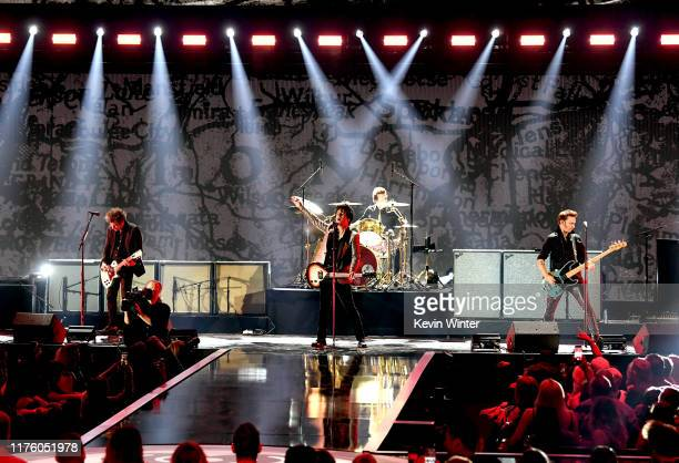 Green Day performs onstage during the 2019 iHeartRadio Music Festival at TMobile Arena on September 20 2019 in Las Vegas Nevada