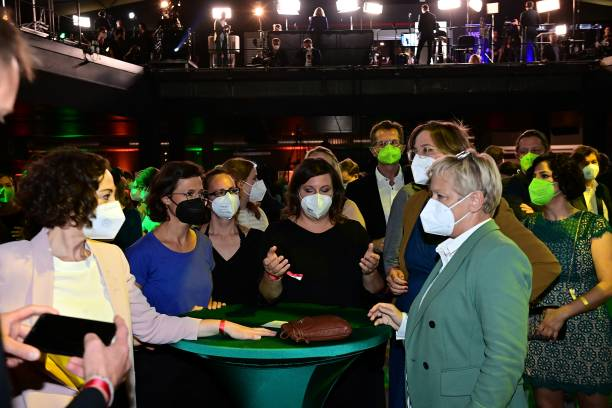 DEU: Greens Party Reacts To Initial Election Results