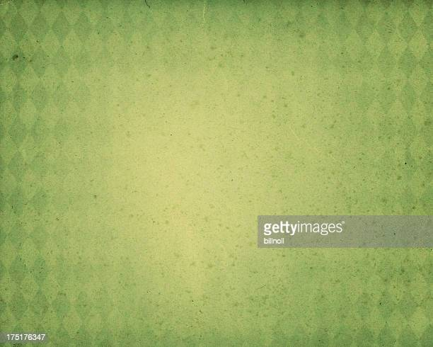 green diamond pattern worn paper