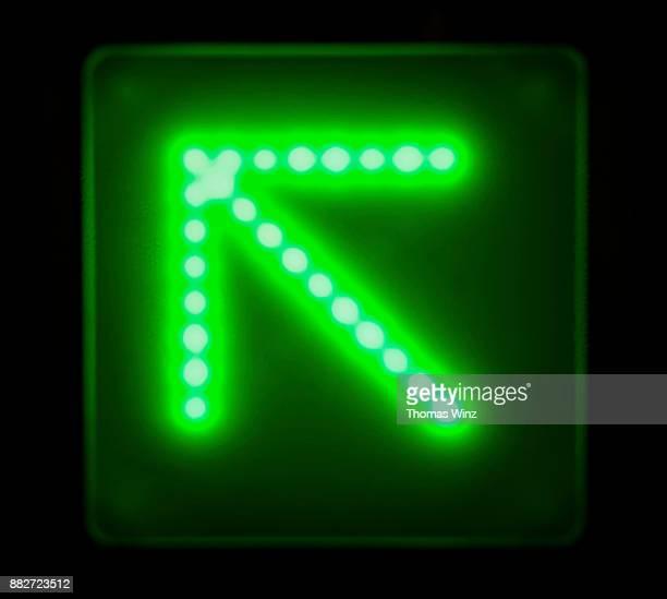 Green Digital Arrow