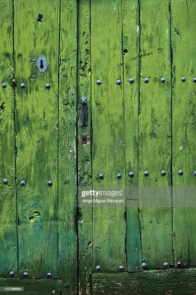 Green door : Foto de stock