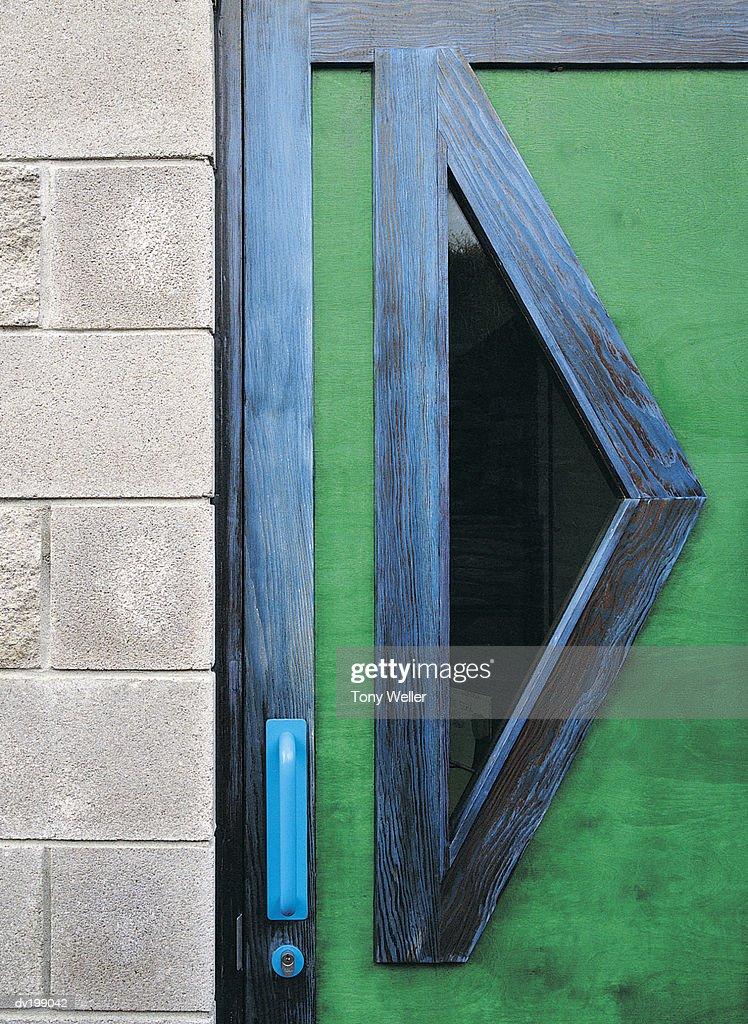 Green doorway : Stock Photo