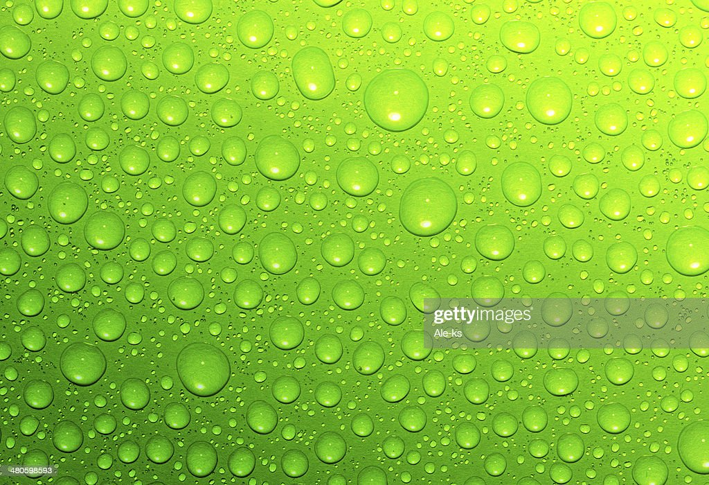 green  drops : Stock Photo