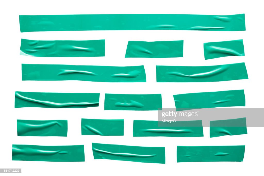 Green Duct Tape Stripes : Stock Photo