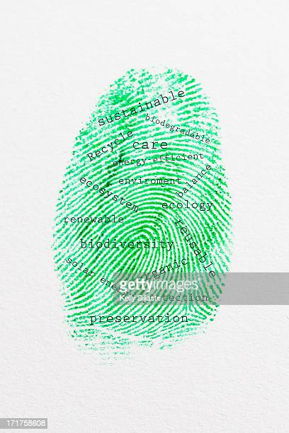Green Eco Friendly Thumbprint