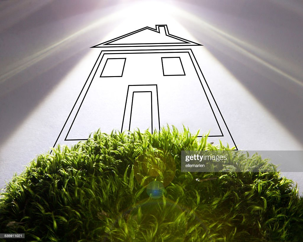 Green Eco house concept : Stock Photo