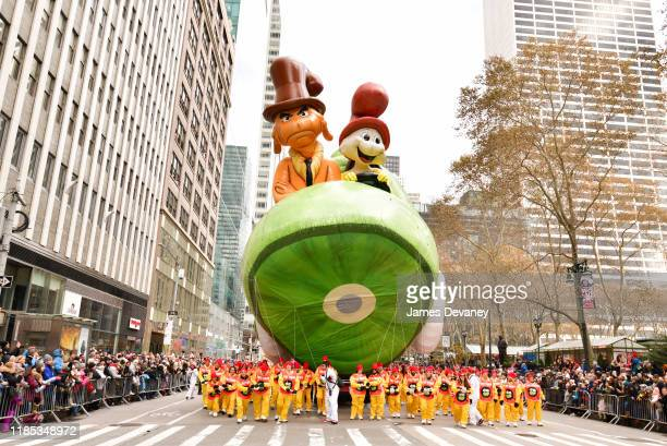 Green Eggs and Ham balloon seen at the 93rd Annual Macy's Thanksgiving Day Parade on November 28, 2019 in New York City.