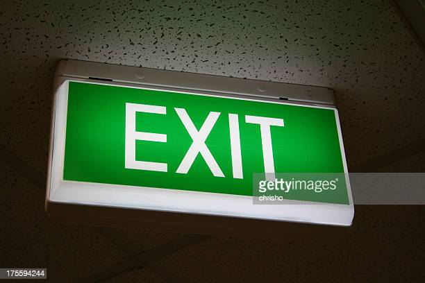 Green emergency exit sign