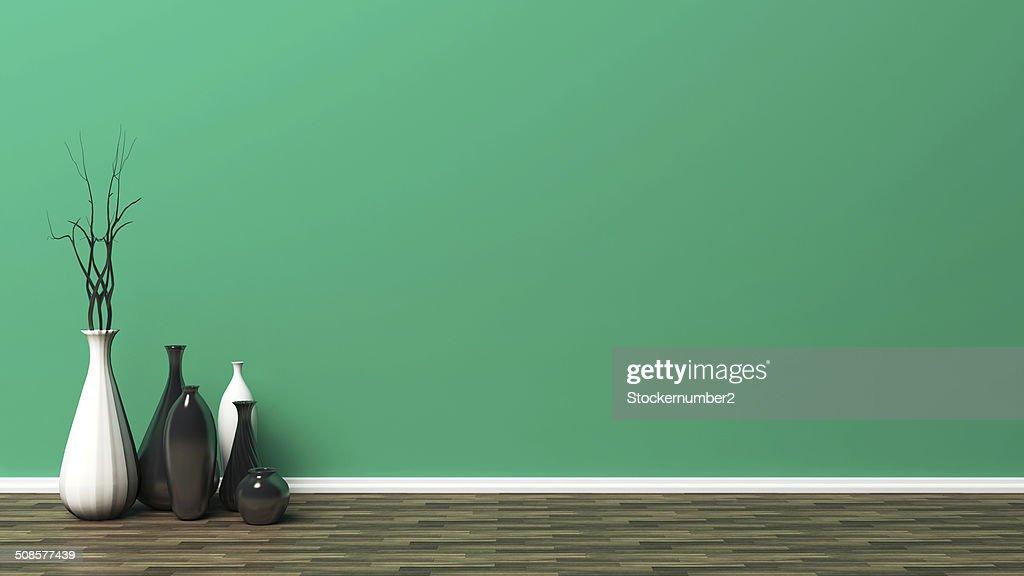 green empty interior : Stock Photo