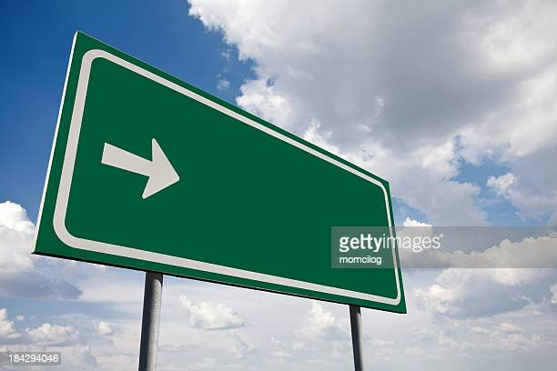 green empty sign - road sign stock pictures, royalty-free photos & images