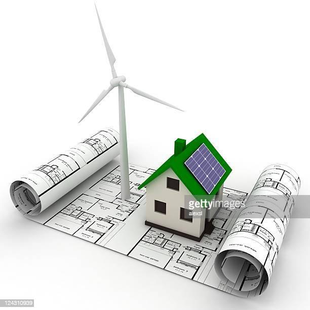 Green energy planning smart house