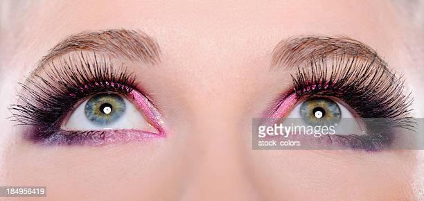 green eyes - false eyelash stock pictures, royalty-free photos & images
