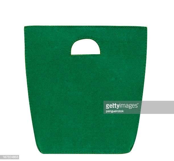 Green felt bag