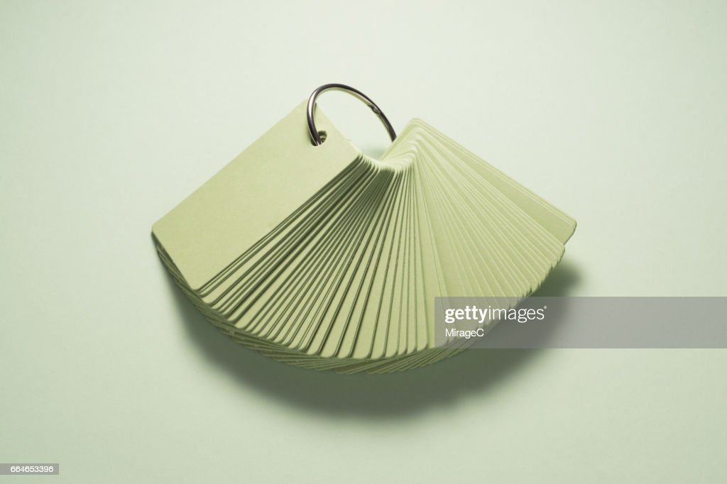 Green Flash Card for Learning Words : Stock Photo