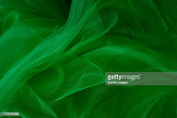Green Flowing Motion Abstract Background