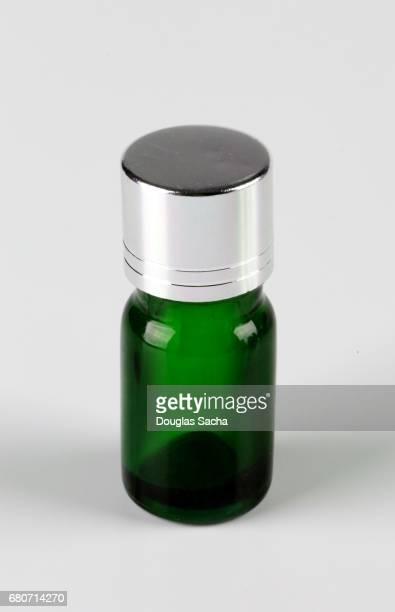 Green fragrance bottle