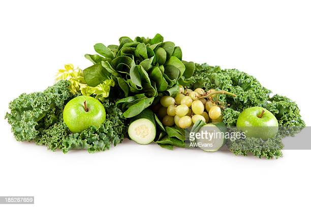 Green fruits and vegatables