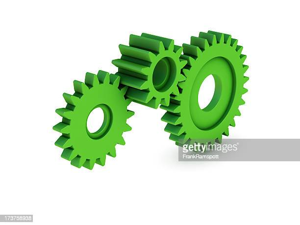 green gears - frank ramspott stock pictures, royalty-free photos & images