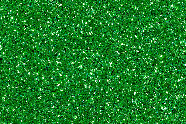 Green Glittering Background Glitter Texture Abstract