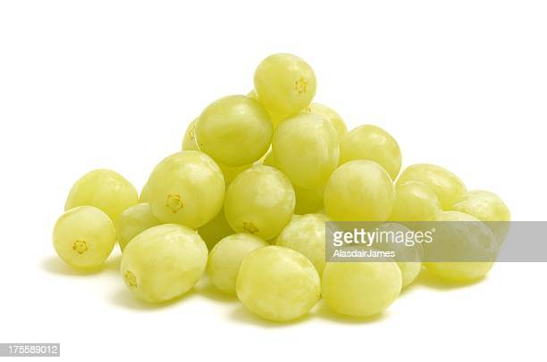 green grapes pile - white grape stock photos and pictures
