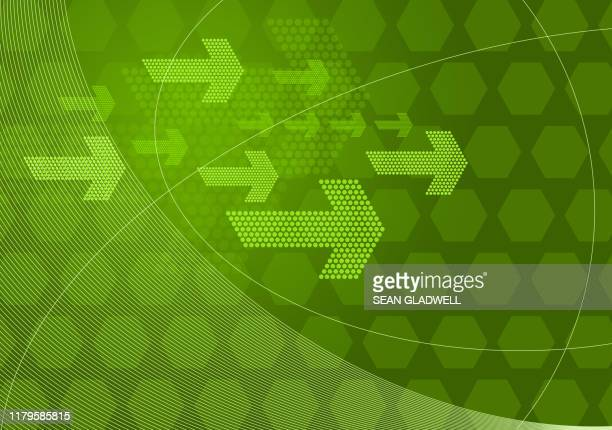 green graphic arrow background - news not politics stock pictures, royalty-free photos & images