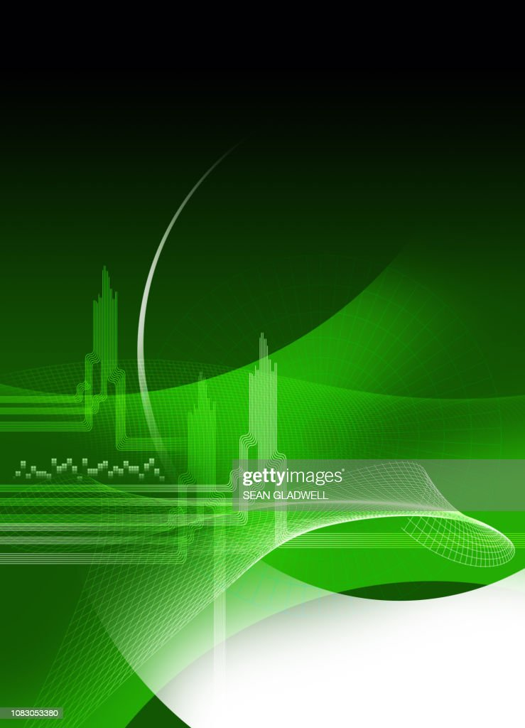 Green graphic cover template : Stock Photo
