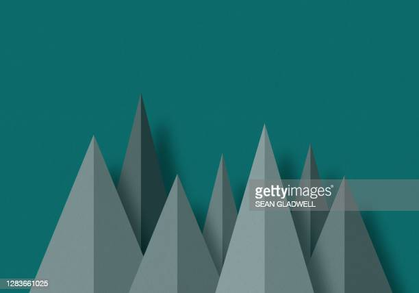 green graphic paper trees - art product stock pictures, royalty-free photos & images