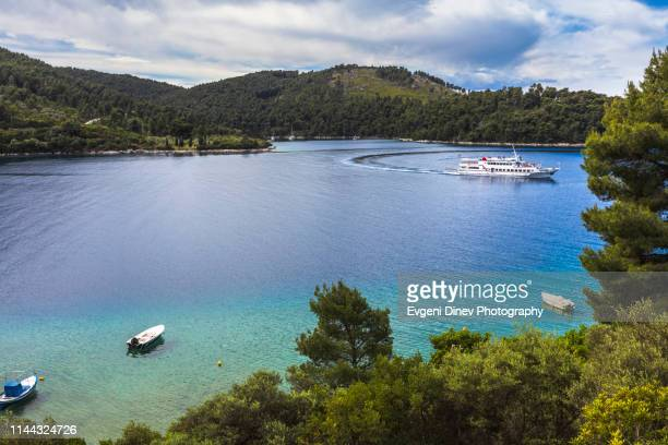 green greek island bay - thessaly stock pictures, royalty-free photos & images