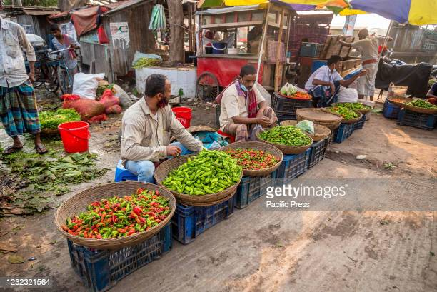 Green Grocers selling vegetable early in the morning from 6:00 AM to 8:00 AM in one of the biggest wholesale vegetable market in southern region in...