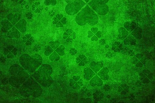 Green grunge shamrock background 904456614