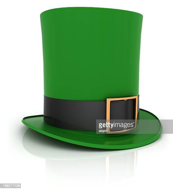 green hat of leprechaun - leprechaun stock pictures, royalty-free photos & images