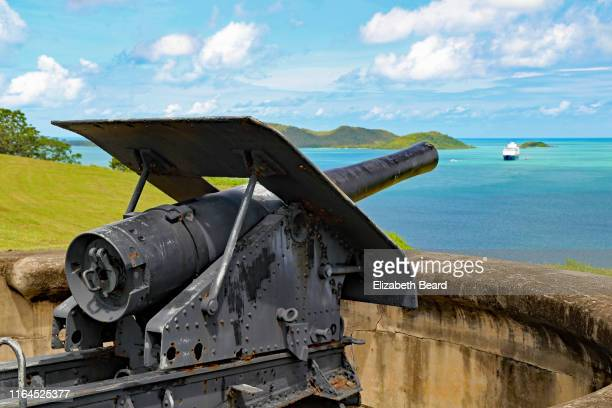 green hill fort, thursday island, australia - cannon stock pictures, royalty-free photos & images