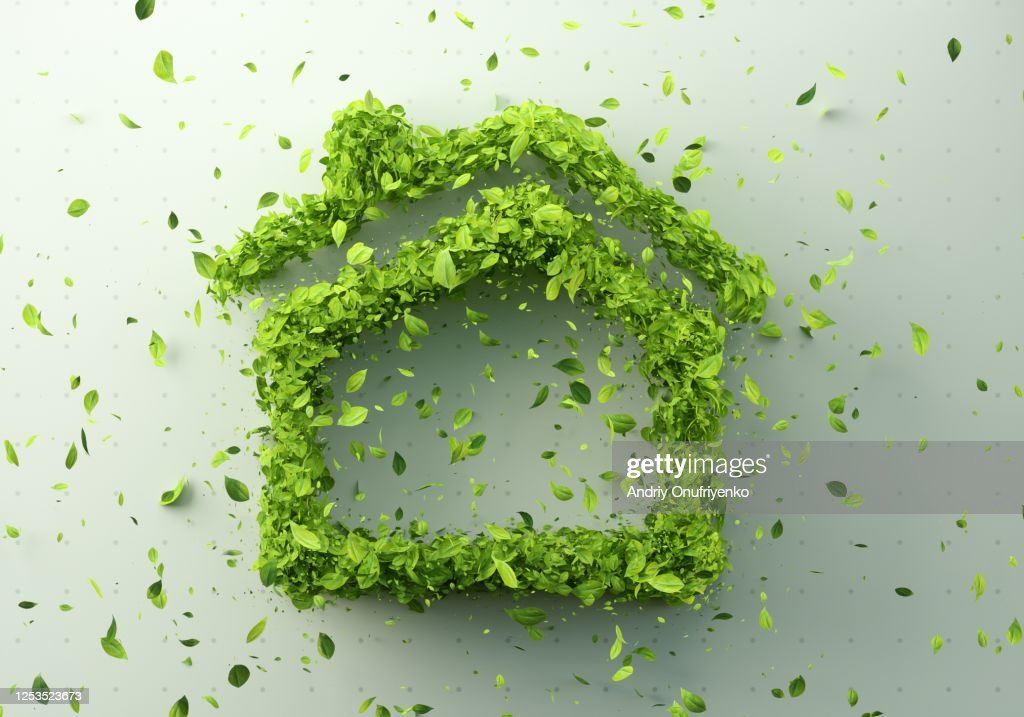 Green home : Stock Photo
