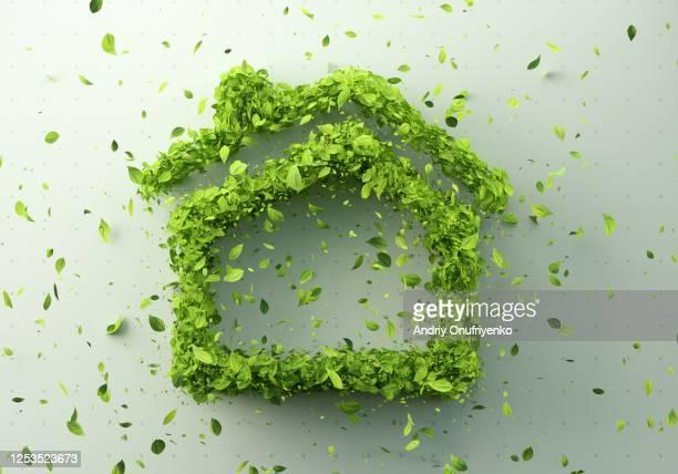 green home - ecosistema fotografías e imágenes de stock