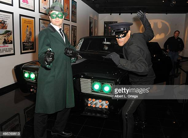 Green Hornet and Kato at the 'Batman 66 Meets The Green Hornet' Comic Book Kickoff Fatman On Batman Live Podcast With Kevin Smith And Ralph Garman...
