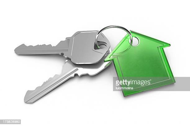 green house and keys - house key stock photos and pictures