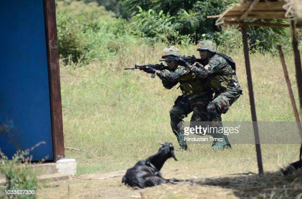 Green House Gordon and search by Sri Lanka Army at BIMSTEC a joint Military exercise organized at Maratha LI Aundh on September 142018 in Pune India...