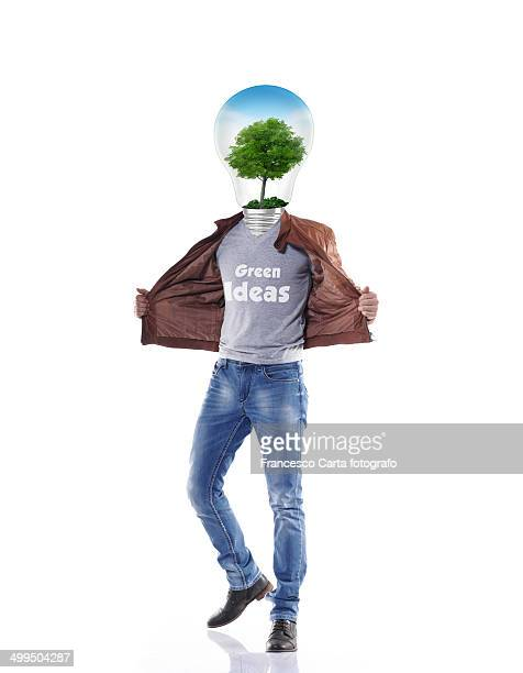 green ideas - headless man stock pictures, royalty-free photos & images